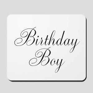 Birthday Boy Black Script Mousepad