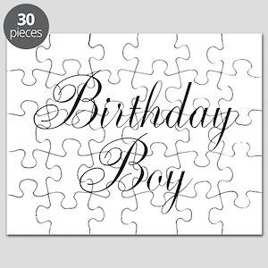 Birthday Boy Black Script Puzzle
