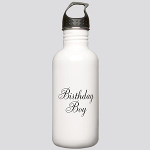 Birthday Boy Black Script Stainless Water Bottle 1