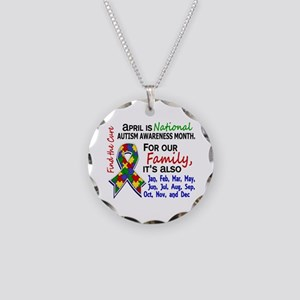 Blessing 4 Autism Necklace Circle Charm