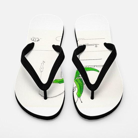 Funny Slugged Flip Flops