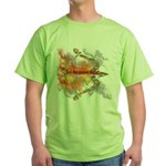 Let the Games Begin Green T-Shirt