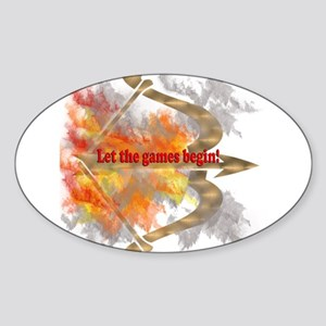 Let the Games Begin Sticker (Oval)