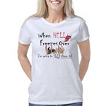 HELL-FREEZES-with-Devil-Wh Women's Classic T-Shirt