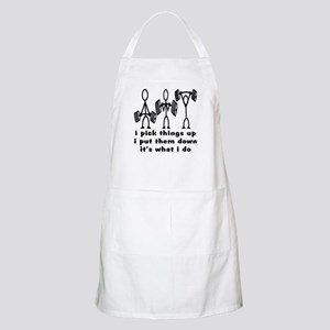 Stick Figure Body Builders Apron