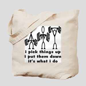 Stick Figure Body Builders Tote Bag
