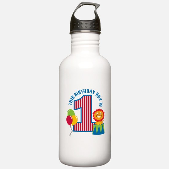 Circus 1st Birthday Water Bottle