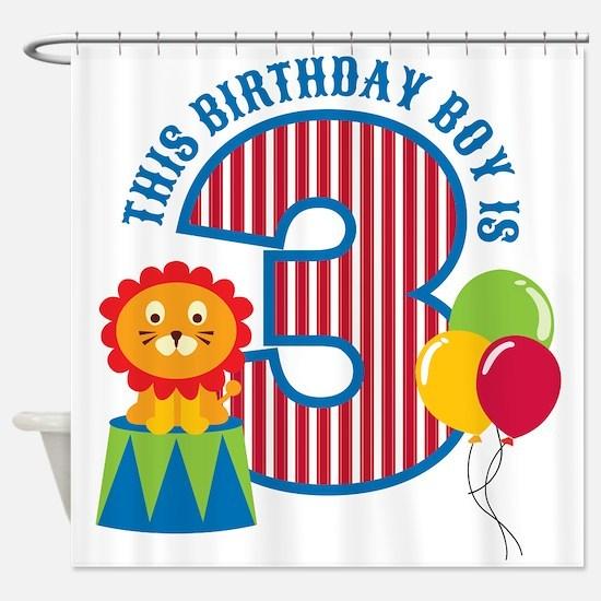Circus 3rd Birthday Shower Curtain