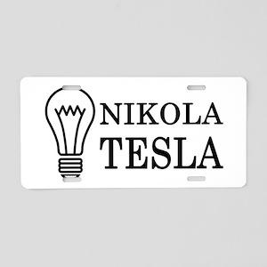 Nikola Tesla Aluminum License Plate