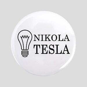 """Nikola Tesla 3.5"""" Button"""