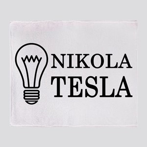 Nikola Tesla Throw Blanket
