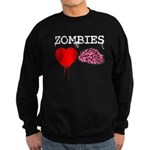 Zombies heart brains Sweatshirt (dark)
