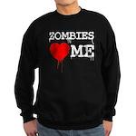 Zombies heart me Sweatshirt (dark)