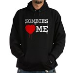 Zombies heart me Hoodie (dark)