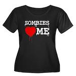 Zombies heart me Women's Plus Size Scoop Neck Dark
