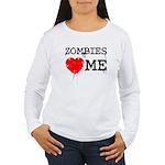 Zombies heart me Women's Long Sleeve T-Shirt