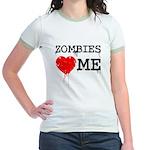 Zombies heart me Jr. Ringer T-Shirt
