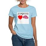 Zombies heart brains Women's Light T-Shirt