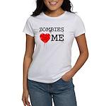 Zombies heart me Women's T-Shirt