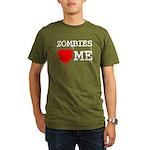 Zombies heart me Organic Men's T-Shirt (dark)