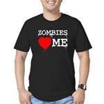 Zombies heart me Men's Fitted T-Shirt (dark)