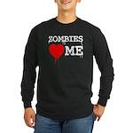 Zombies heart me Long Sleeve Dark T-Shirt