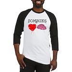 Zombies heart brains Baseball Jersey
