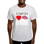Zombies heart brains Light T-Shirt