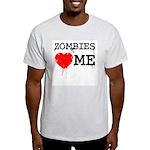Zombies heart me Light T-Shirt