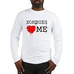 Zombies heart me Long Sleeve T-Shirt