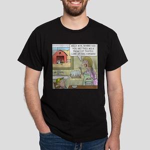 Milk Cow Cartoon Dark T-Shirt