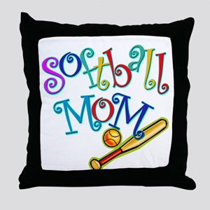 Softball Mom II Throw Pillow
