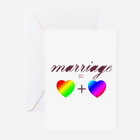 marriage is heart and heart copy Greeting Cards