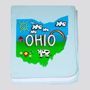Ohio, Ohio. Kid Themed baby blanket