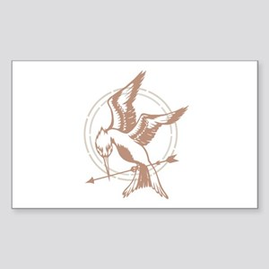 Mockingjay Art Sticker (Rectangle)