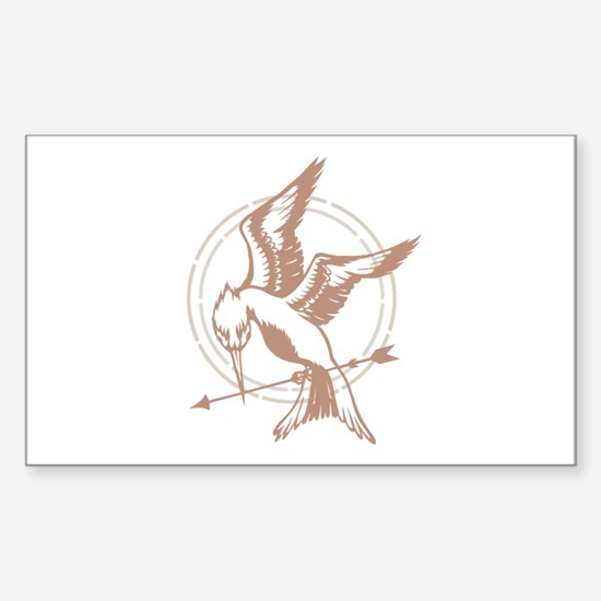 Mockingjay Art Sticker (Rectangle)