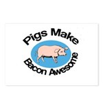 Pigs Make Bacon Awesome Postcards (Package of 8)