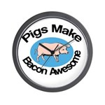 Pigs Make Bacon Awesome Wall Clock