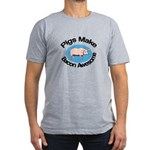 Pigs Make Bacon Awesome Men's Fitted T-Shirt (dark