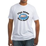 Pigs Make Bacon Awesome Fitted T-Shirt