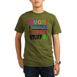 OMG!!! I Totes Luv Organic Men's T-Shirt (dark)