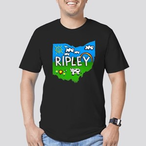 Ripley, Ohio. Kid Themed Men's Fitted T-Shirt (dar