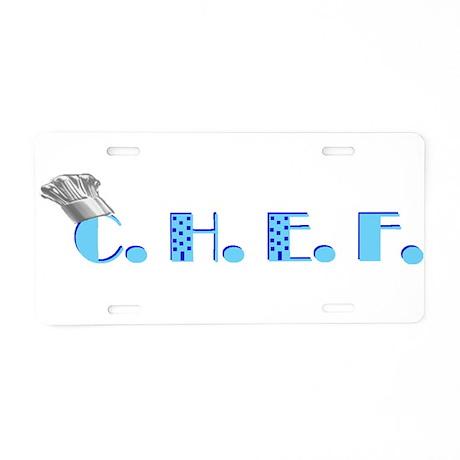 CHEF LOGO Aluminum License Plate