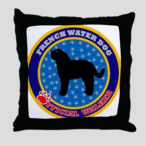 Barbet (French Water Dog) Throw Pillow