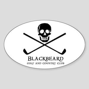 Blackbeard Golf Country Club Oval Sticker