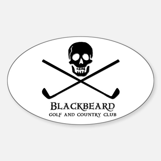 Blackbeard Golf Country Club Oval Decal