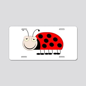 Ladybug Design Aluminum License Plate