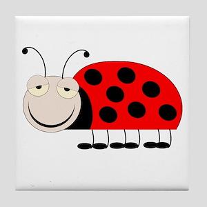 Ladybug Design Tile Coaster