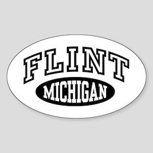 Flint Michigan Sticker (Oval)