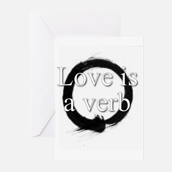 Love is a verb. Greeting Cards (Pk of 10)